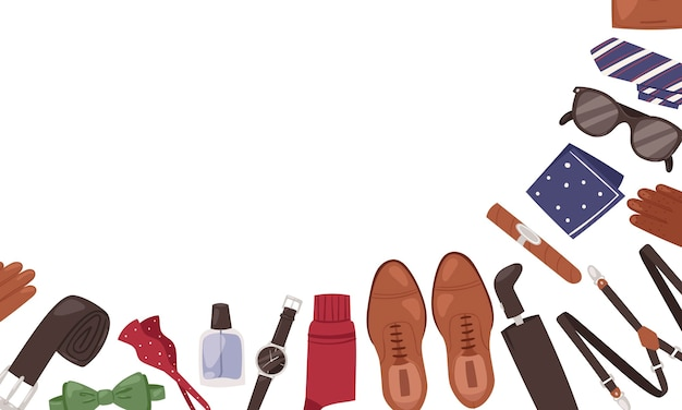 Acessórios masculinos casual outfits banner