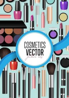 Acessórios modernos de cosméticos