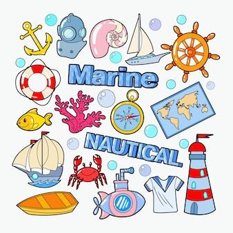 Acessórios náuticos marinhos para doodle