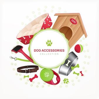 Acessórios para cães moldura redonda decorativa
