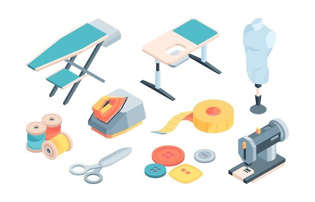 Acessórios para ilustração de alfaiataria