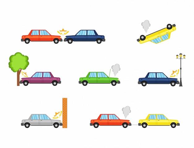 Acidente de carro e acidentes