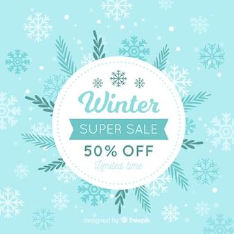 Ackground de venda de inverno