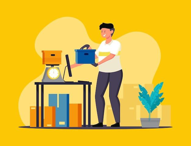 Acompanhamento on-line de verificações de pedidos por funcionários de correio em depósitos