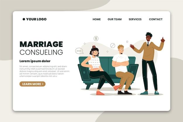Aconselhamento matrimonial - landing page