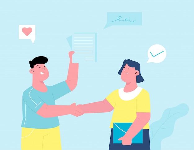 Acordo de contrato para negócios