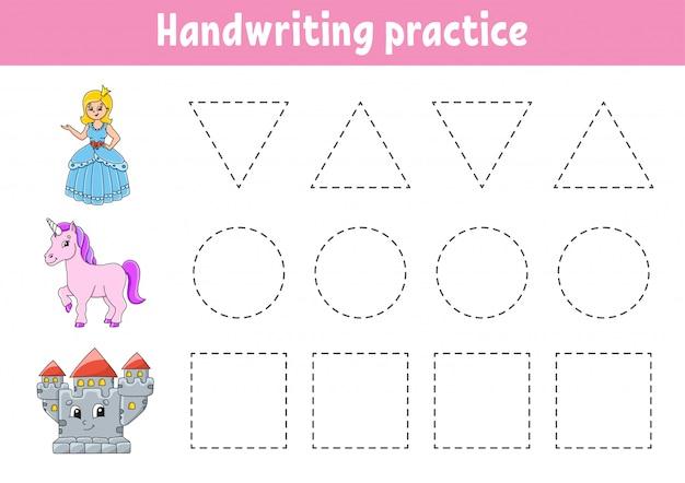 Acordo de escrita à mão. planilha de desenvolvimento de educação. página de atividades.