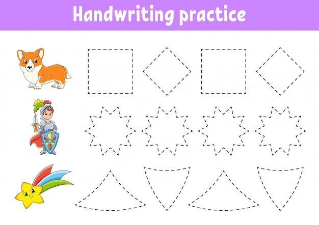 Acordo de escrita à mão. planilha de desenvolvimento de educação.