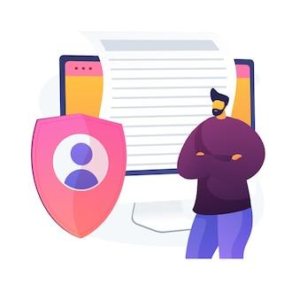 Acordo de licença. correspondência eletrônica confidencial, proteção de privacidade da internet, ideia de regulamentos. segurança cibernética, software de proteção.