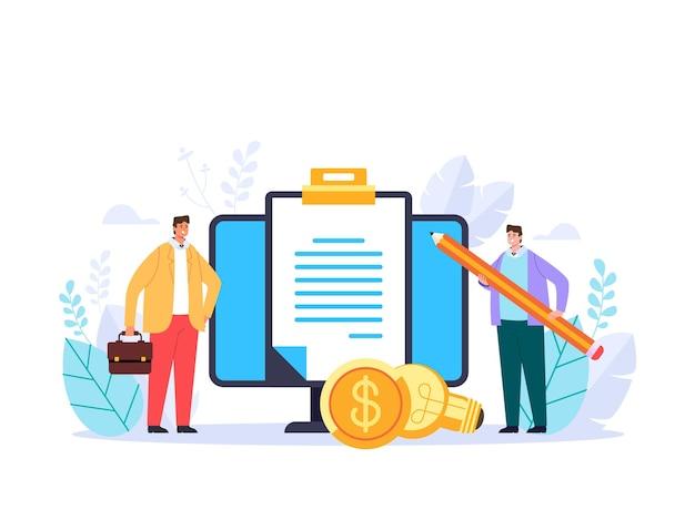 Acordo de negócio start up estratégia de investimento ilustração adstract