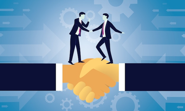 Acordo de negócios acordo conceito de parceria