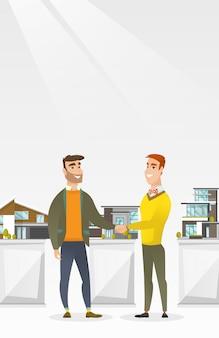 Acordo entre agente imobiliário e comprador.