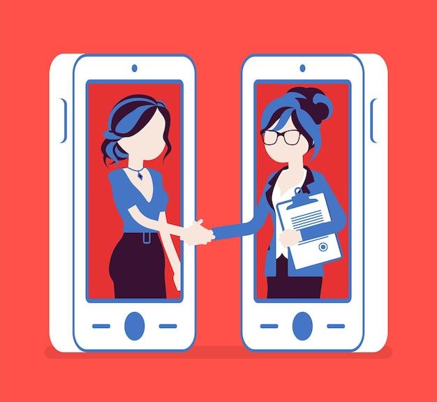 Acordo feminino móvel, acordo comercial