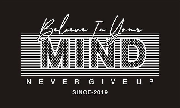 Acredite em sua mente tipografia