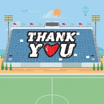 Acrobacias de cartão do estádio. obrigado.