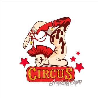Acrobata de circo vintage