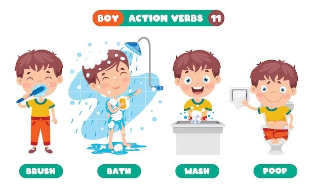 Action verbs for children educação