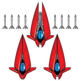 Activo do jogo do red space fighter