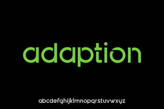 Adaptação, fonte de exibição tipográfica futurista moderna