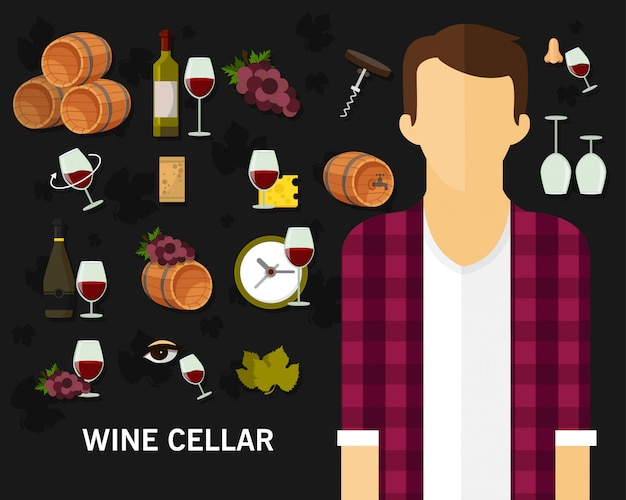 Adega de vinho conceito fundo