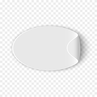 Adesivo branco sobre fundo transparente. . papel enrolado.