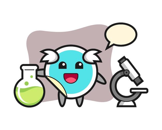 Adesivo cartoon como cientista