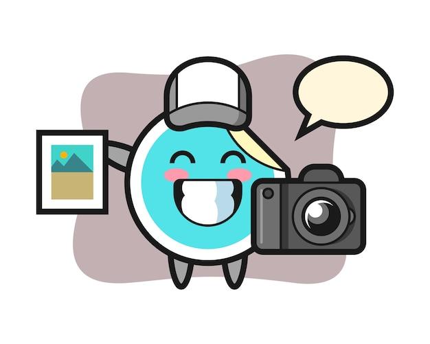Adesivo cartoon como fotógrafo