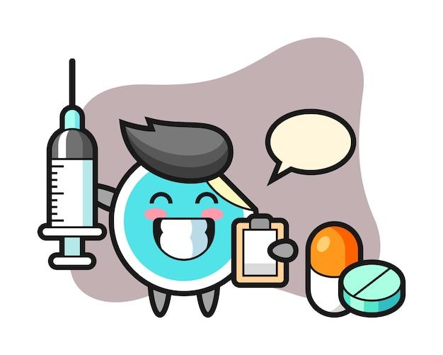 Adesivo cartoon como médico