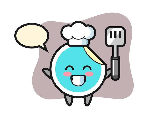 Adesivo chef dos desenhos animados está cozinhando