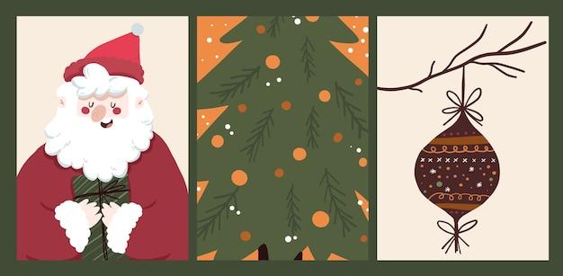 Adesivo conjunto de coleção de design de celebração de feriado do calendário de natal 2021
