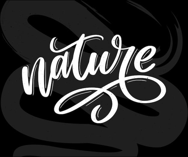 Adesivo de 100 letras verdes naturais com caligrafia brushpen. eco conceito amigável para adesivos, banners, cartões, propaganda. projeto de natureza ecologia do vetor.