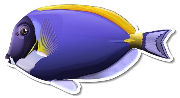 Adesivo de animal marinho paleta de peixe cirurgião