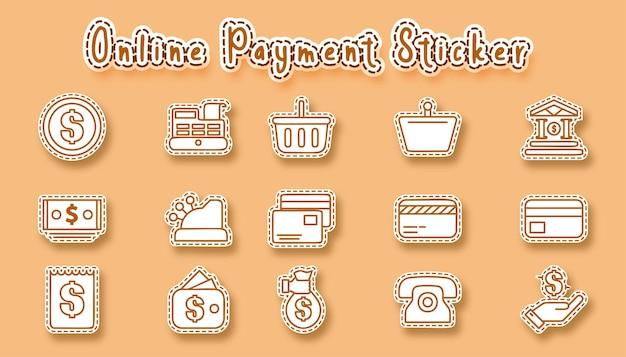 Adesivo de arte de linha de compras online