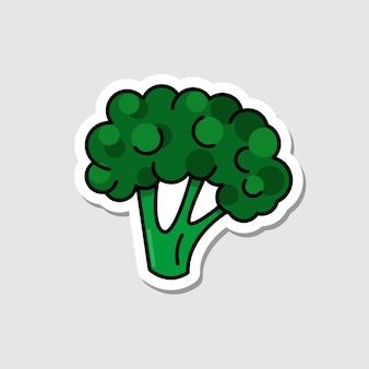 Adesivo de beterraba de vetor em estilo cartoon ícone plano vegetal com linhas pretas
