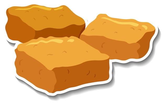 Adesivo de biscoitos em fundo branco