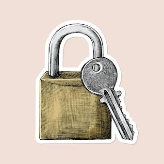 Adesivo de cadeado e chave