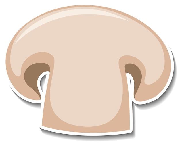 Adesivo de cogumelos cogumelos fatiados em fundo branco