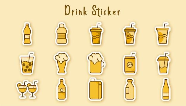 Adesivo de copo e bebida