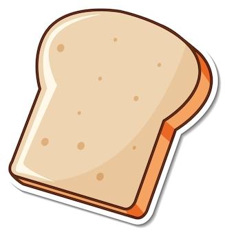 Adesivo de desenho animado de fatia de pão torrado
