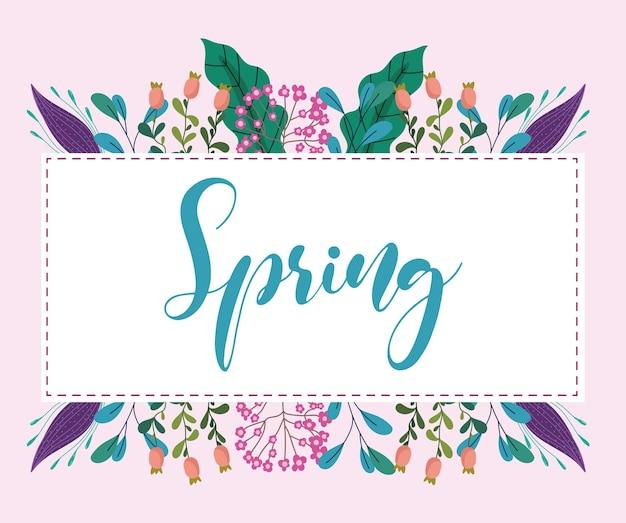 Adesivo de flores da primavera