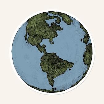 Adesivo de globo de desenho animado de png