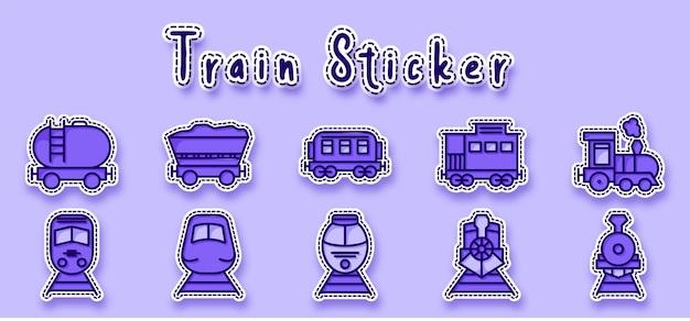 Adesivo de ícone de linha de trem de carvão