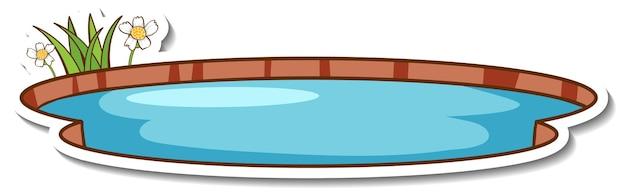 Adesivo de pequeno lago natural isolado
