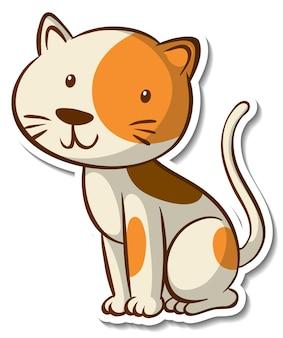 Adesivo de personagem de desenho animado de um gato