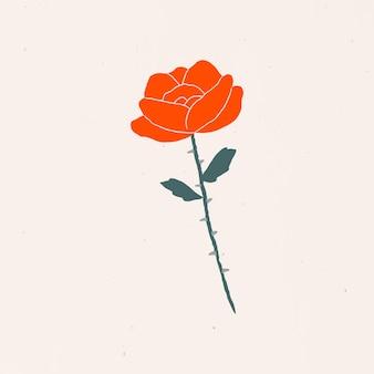 Adesivo de rosa alquimia ilustração mística de clipart mínima