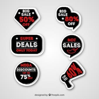 Adesivo de venda preto e vermelho