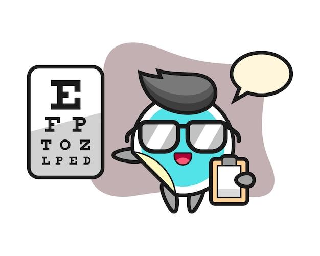 Adesivo dos desenhos animados como oftalmologia