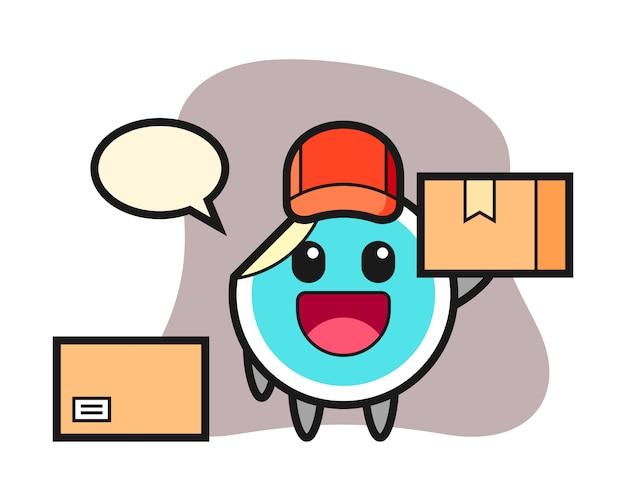 Adesivo dos desenhos animados como um correio