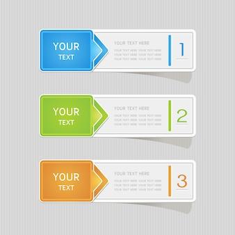 Adesivo etiqueta papel colorido conjunto com ícones