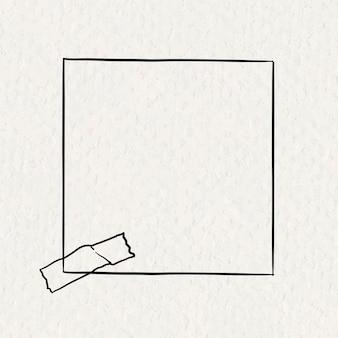 Adesivo observe elemento de papel de vetor em estilo desenhado à mão na textura de papel